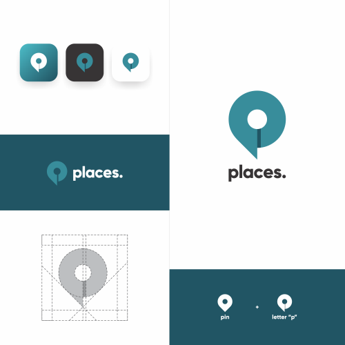 PLACES LOGO CONCEPT