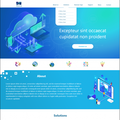 Home Page Web Design UI