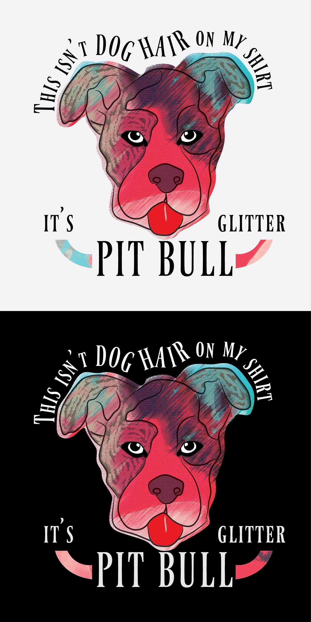 Pit Bull Glitter