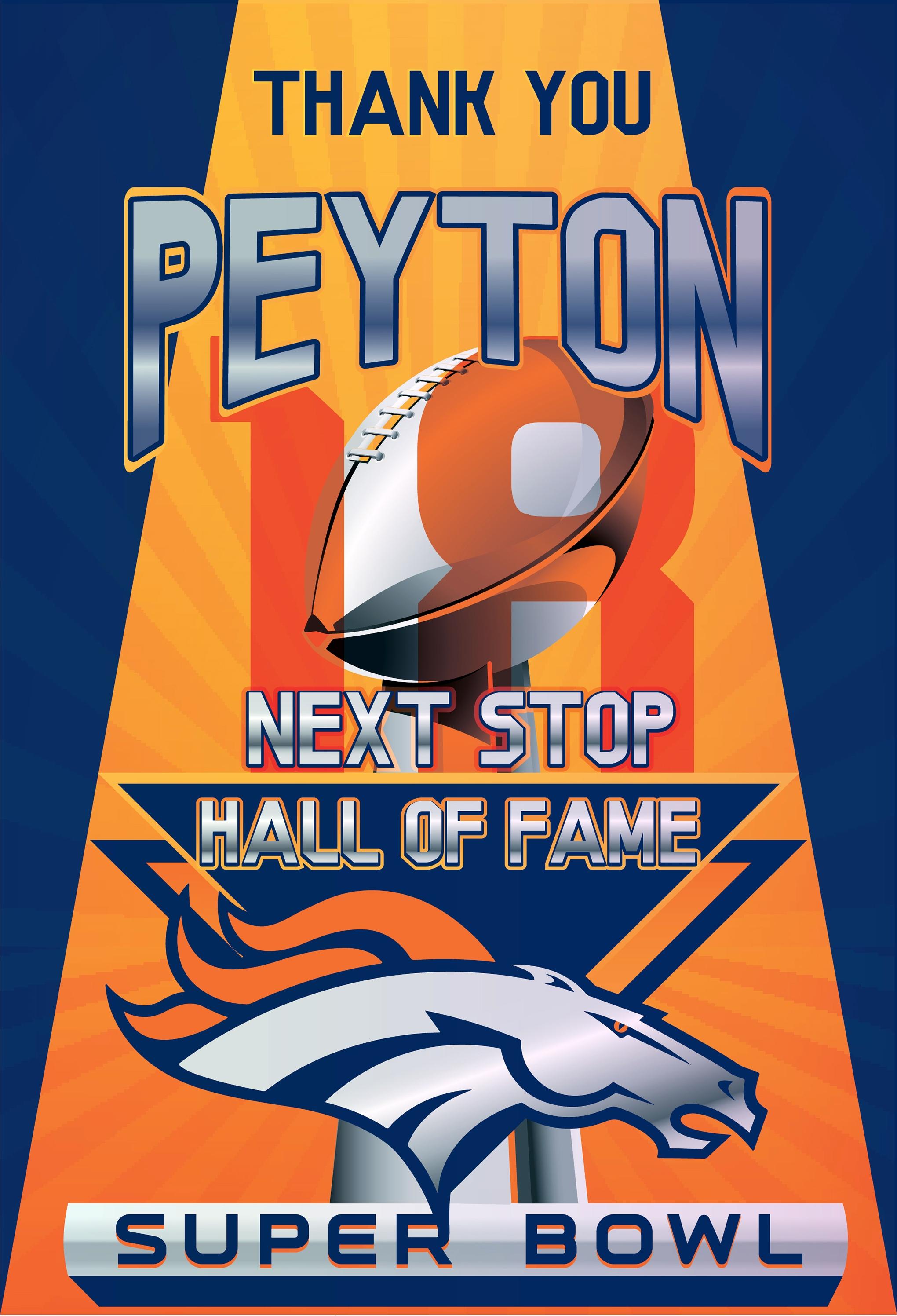 Denver Broncos, Peyton Manning Super Bowl Poster