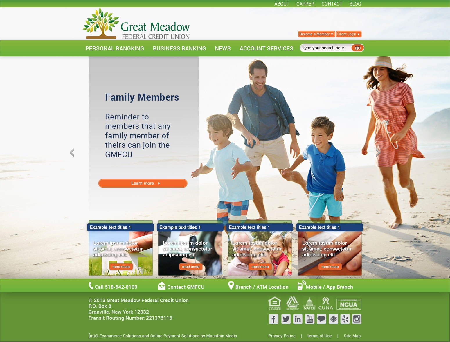 Website Design for Local Federal Credit Union