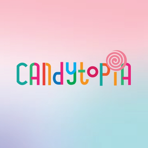Unused logo proposal for a candy company.