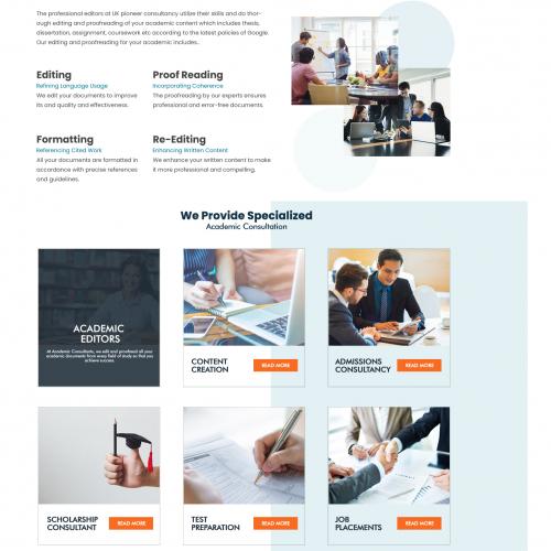 Website Title Page Design