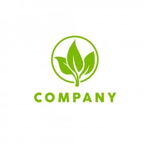 Logotype Green Leaf Icon