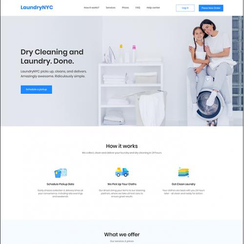 Laundry Service Website