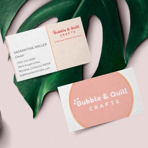 Business Card design for Bubble