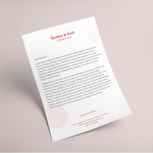 Letterhead Design for Bubble
