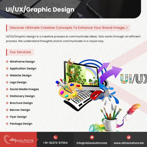 UI/UX/Graphic Design Services Flyer
