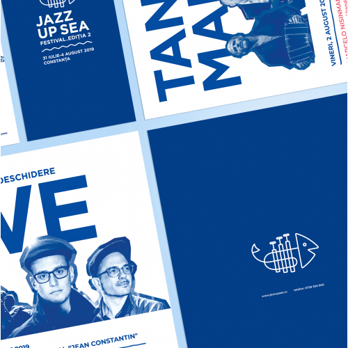 visual identity for JazzUp - jazz concerts series