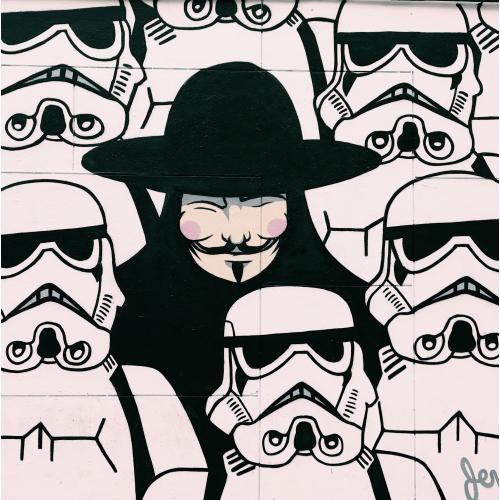 Storm trooper street Art