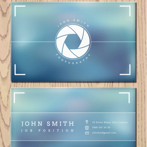 PHOTOGRAPHY Visiting Cards