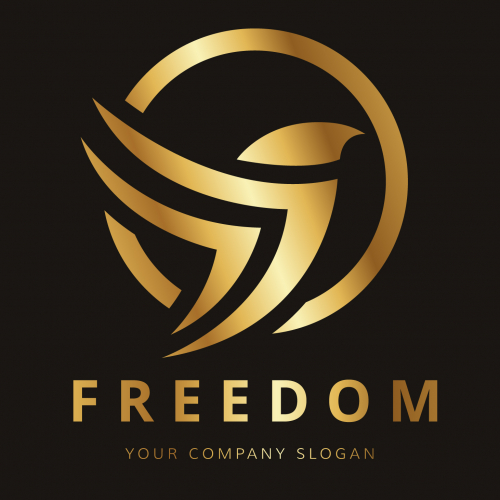 golden bird logo design