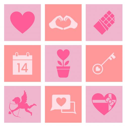 Arrow Calendar Card Couple Cupid Cute Day