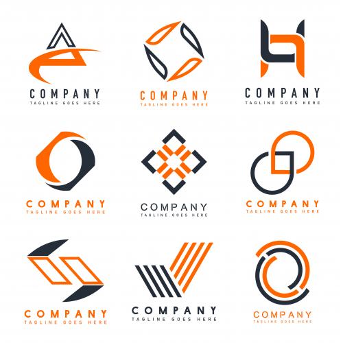 set company logo design ideas vector