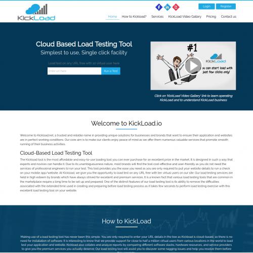 Kickload | PSD to Responsive HTML