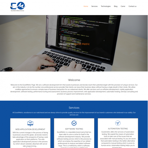 Excel Metric Software Service  | PSD to Responsive HTML