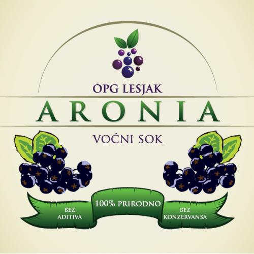 Aronia juice label