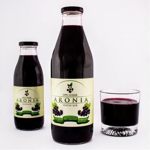 Aronia bottle package design