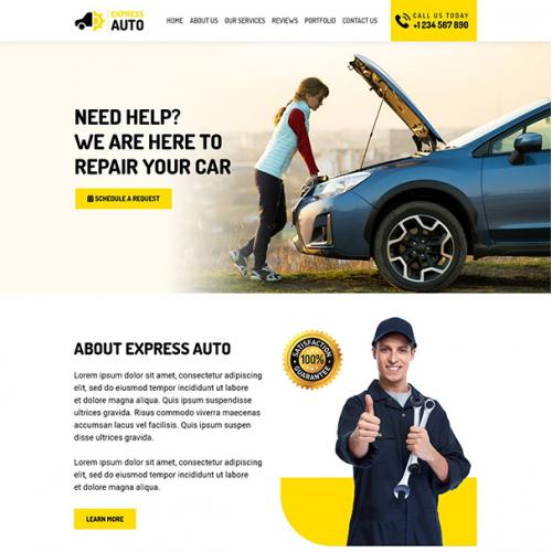 Automotive - Car Repair Company Website Design
