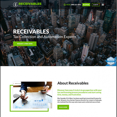 Financial Company Website Design