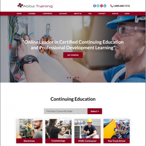 Online Educational Training Company Website Design