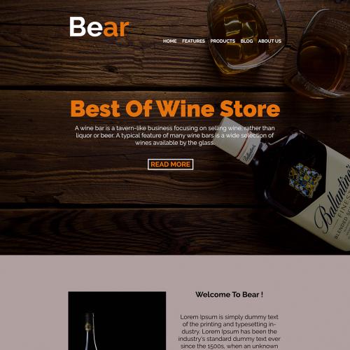 Bear - A Bar 0r Cafe Website Design