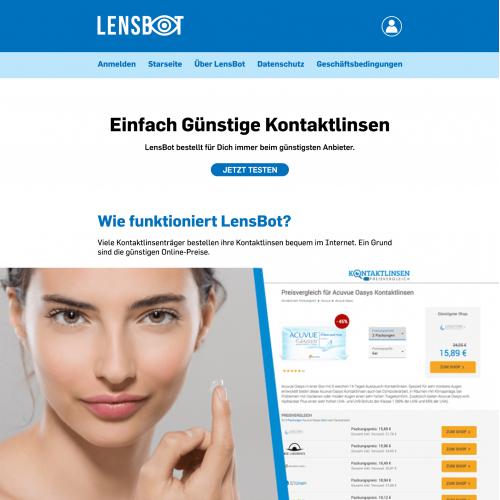 German Product Website Design