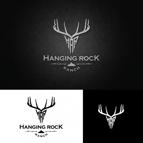 Create a logo design for Hanging Rock Ranch, a wildlife