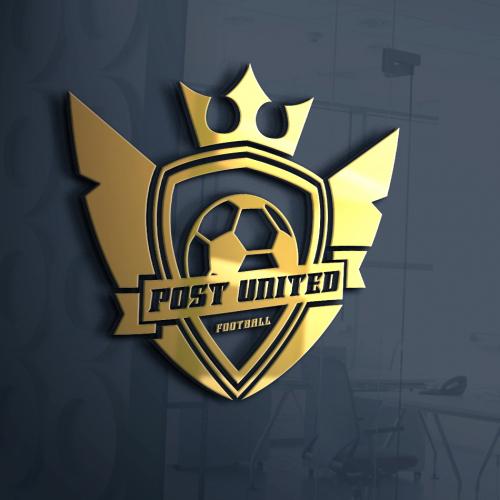 Football gold logo