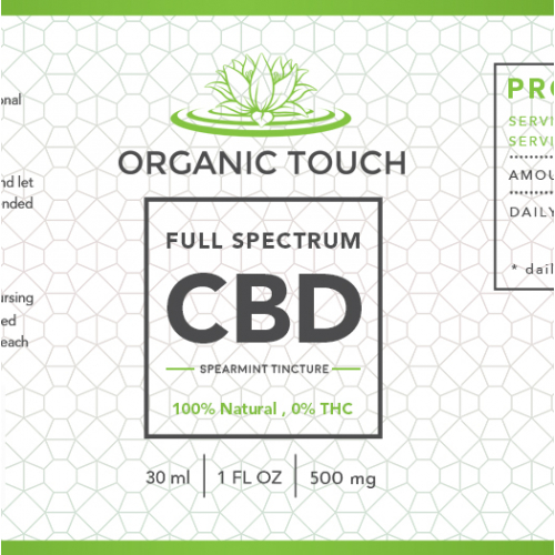 label design for CBD PRODUCT