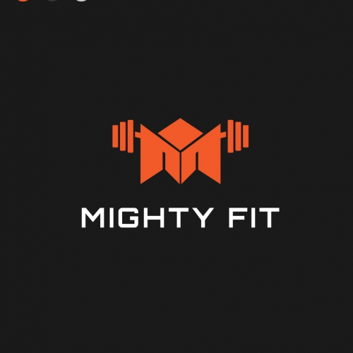 MightlyFit Fitness Logo Concept