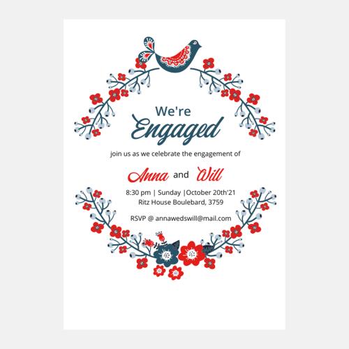 Floral engagement border