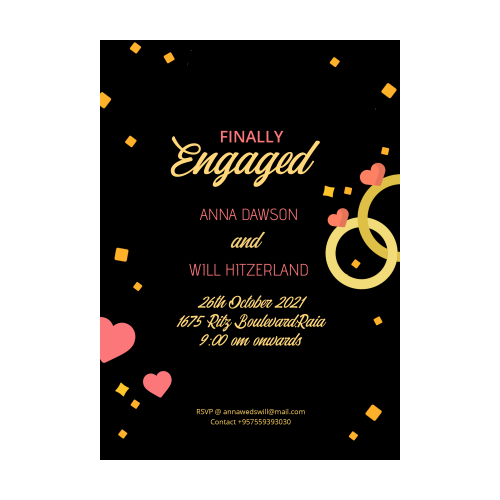 Finally Engaged Invitation Card