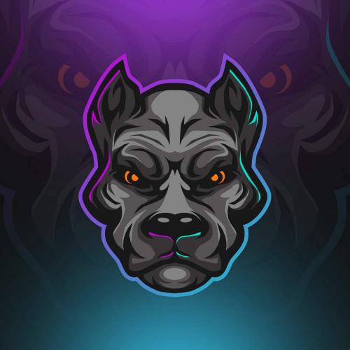 Neon Pitbull Logo