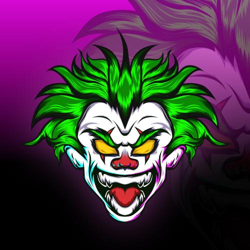 Psycho Clown Mascot Design