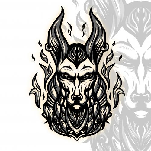 Anubis Sketch Design