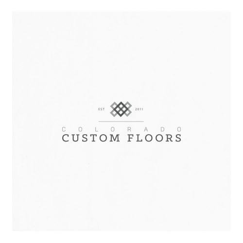Logo for custom floors company