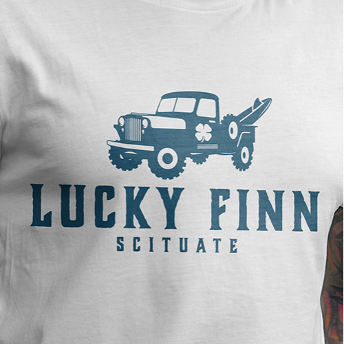 Lucky Finn Logo and T-shirt design