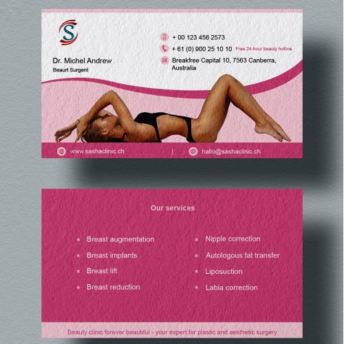 Beauty clinic business card