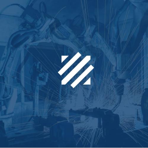 strong minimalistic logo