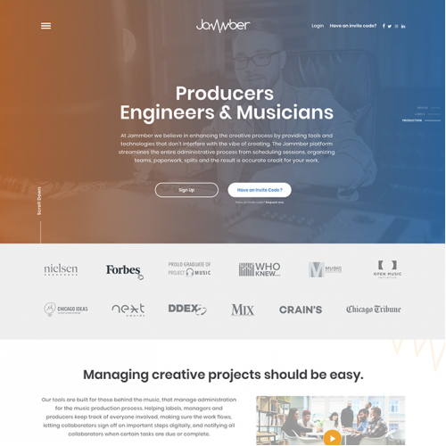 Jammber Landing Page (Design Contest)