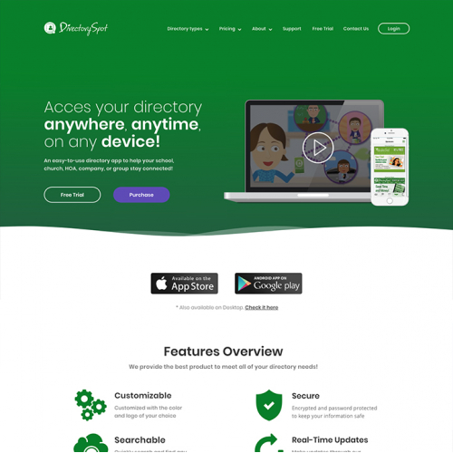 Landing Page Directory Spot
