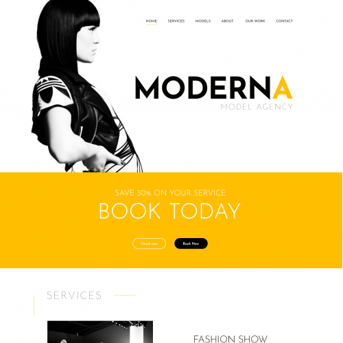 Moderna Web Theme 2017