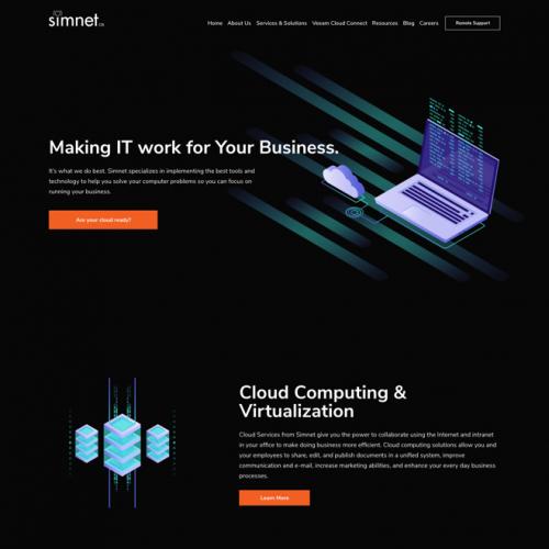 Simnet Website Re-Design