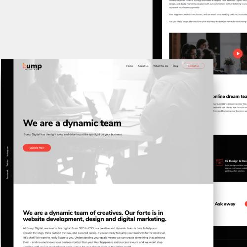 Bump Digital Website Design