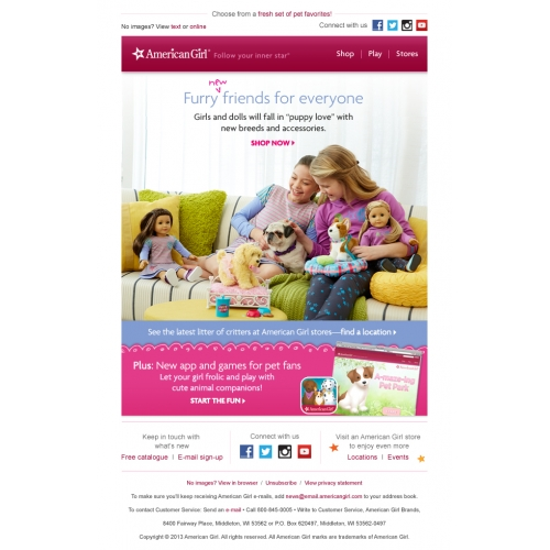 American Girl Pets Email