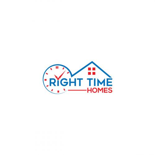 Home and clock logo