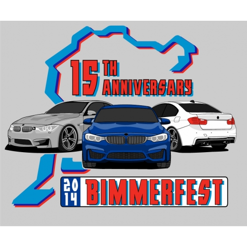 ANNUAL 2014 BIMMERFEST BMW EVENT SHIRT