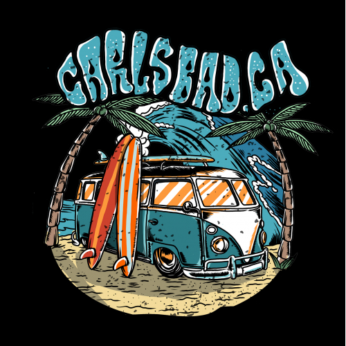 design tshirt vintage illustration volks wagen surfer
