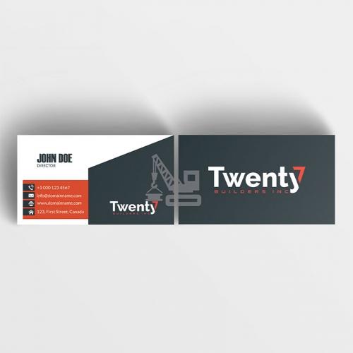 Construction Business Card Design